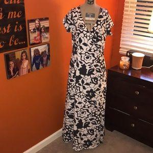 Soft Surroundings Maxi Floral Wrap Dress